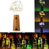 75cm 15 LED Mantar Şişesi Stoperi Hafif Cam Şarabı Bakır Tel Xmas Partisi için Peri Şeridi Düğün