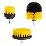 3 pièces 2/3,5/4 pouces jaune perceuse électrique brosse tuile coulis puissance épurateur baignoire brosse de nettoyage