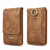 DG.MING Casual Vintage Business 6.5 inch Folding Large Capacity with Multi-Card Slots Mobile Phone Wallet Waist Bag