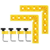 Drillpro 2 Set ABS 150x150mm Woodworking Clamp L-Shaped Precision Clamping Squares Auxiliary Fixture Splicing Board Fixed Clip Woodworking Tools 2021 New