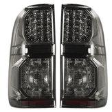 Toyota Hilux için (Vigo) 2004-2015 Çifti Araba LED Arka Kuyruk Fren Işık Lamba Duman Siyah