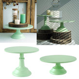 10/12 Inch Iron Green Round Cake Stand Pedestal Dessert Holder Wedding Party Decorations