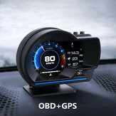Original              Smart Car OBD2 GPS Gauge HUD Head-Up Digital Display Speedometer Turbo RPM Alarm