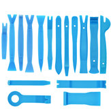 16Pcs Car Stereo Radio Door Panel Trim Disassembly Tool Removal Tool Set Blue