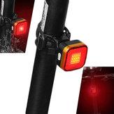 XANES TL07 COB LED 6 Modes Bike Tail Light Waterproof USB Charging Warning Light
