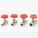 Ball Balve 6mm 8mm 10mm 12mm Pipe Orange Plastic Handle Metal High Pressure Durable Tube Needle Type Globe Valve