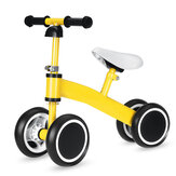 Baby Balance Bike 4 Wheels No Pedal Design Bicycle With Adjustable Seat Height Kids Training Walking Tricycle For 1-3 Years Old