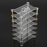 Clear Acrylic 6 Layer Cluster Case Shelf Stack For Raspberry Pi 4/3/2 B and B+