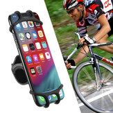 Supporto per telefono da bicicletta in silicone per iPhone Supporto per bici da moto universale GPS Staffa per telefono cellulare da 4.0-6.3 pollici