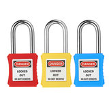 38mm Keyed-Alike رسالة Padlock Sets ABS Steel Lock Plastic Security Industry Locklock