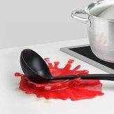 HonanaKT-948MustardBloodShapedSpoon Descanso por Mostarda Kitchen Cooking Aid Cup Holder