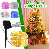 22M 200LED Solar String Fairy Light Warm White / White / Colorful / Pink / Blue Lampa ogrodowa Wedding Party Christmas Garden Decor