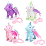 Electric Magia Walking Wiggle Singing Unicorn Stuffed Plush Toy Kids Regalos de Navidad