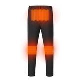Men's Smart Heat Pants 3 Places Heating Winter Warm USB Charging Thermal Nylon Elasticity Trousers Washable Outdoor Cycling Hiking