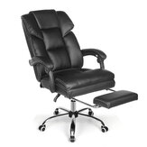 BlitzWolf® BW-OC1 Office Chair Ergonomic Design with 150°Reclining Wide Seat Retractable Footrest PU Material Lumbar Pillow