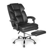 Chaise de bureau BlitzWolf® BW-OC1 Design ergonomique avec siège large inclinable à 150 ° Repose-pieds rétractable Matériau PU Oreiller lombaire