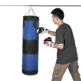 60/80/100 / 120см Кожаный боксерский боксерский удар Сумка Подвесной пустой тяжелый мешок с песком для бокса с цепочкой