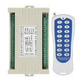 315 / 433MHz DC 12V 24V 16kanálové dálkové vícekanálové bezdrátové dálkové ovládání přepíná inteligentní výstupní modul