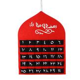 Niños árabe MDF Ramadán Calendario de Adviento 30 bolsillos Eid Mubarak DIY Decoración de la casa