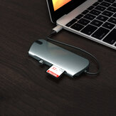 SEEWEI 1908C Type-C to USB Hub USB-C Hub 8-in-1 Docking Station HD + PD Charging + 3.5mm Audio + TF / SD Card Reader
