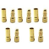5 Paar 5.5mm Gold Kugel Stecker Banana Plug Für ESC Batterie Motor