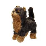 الكهربائية المشي الغناء هز دمية واقعية محاكاة الكلب نابض بالحياة الحيوان دمى للديكور المنزل مجموعة الاطفال هدية