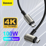 Baseus 100W 5A USB-C to USB-C القوة Delivery PD3.0 QC4.0 Fast شحن Coxial Cable USB 3.1 gen2 10Gbps Data Sync Cord 4K عالي الوضوح عرض فيديو Output for Samsung Galaxy S20 Huawei P40 For iPad Pro 2020 MacBook Pro 2020
