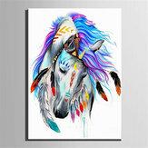 Картина маслом по номеру Набор Индийская Лошадь / Картина со львом DIY Набор акриловых красок по номерам Ручная работа Художественные прина