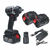 21V 630N.m Electric Impact Wrench 3 in 1 Brushless Cordless LED With 2 Batteries