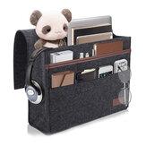 12.6x3.9x9.8 cala Sofa filcowa torba do przechowywania nocna wisząca torba z organizerem kanapa podłokietnik kieszeń na ramię uchwyt na podróż do domu