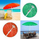 1.8M Diameter Beach Umbrella Portable Deck Chair Parasol Sunshade Spike UV Protection Umbrella