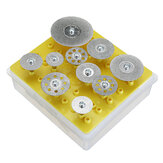 Drillpro 10pcs Diamond Cutting Discs Cut Off Wheel Set For Dremel Rotary Tool Saw Blade