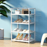 Classics Schuhregal 4-Tier Resin Slat Utility Schuhregale Organiers Home Supplies Lagerregal für Home Office