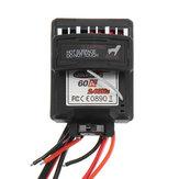 60A 7.4 V Controlador de Velocidade Escovado ESC Para 9125 1/10 RC Car Parts No.25-ZJ07