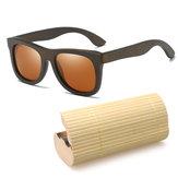 Occhiali da sole di legno di bambù fatti a mano rotondi di modo Scatola