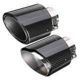 2.6 İnç 66 ila 114mm Evrensel Karbon Fiber Araba Oto Egzoz Borusu Kuyruk Susturucu Sonu İpucu