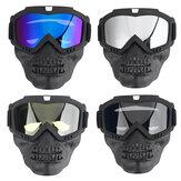 Occhiali moto staccabili viso Maschera Protezione antipioggia neve antipioggia Occhiali ciclismo fuoristrada