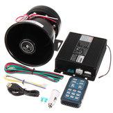 DC12V 400W 8 son fort voiture avertissement alarme police sirène corne PA haut-parleur à distance