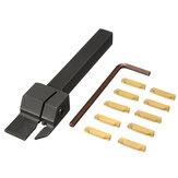 MGEHR 1010-2 10x10 x100mm Porte-outil à rainurer avec lame d'insertion 10pcs MGMN200 pour coupe de 2mm