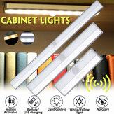 キャビネットライトの下の光とモーションセンサーワイヤレス超薄型ワードローブライト