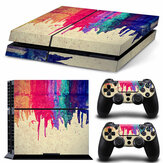 Vinyl Decal Skin Sticker Set voor PS4 Voor Sony For Play Station 4 Console 2 Controller