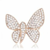 Elegante Butterfly Animal Inly Zircon Crystal Brooch Pin Accessoires