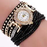 DUOYA Luxury Nation Style  Crystal Gold Bracelet Watch Ladies Vintage Quartz Wirstwatches