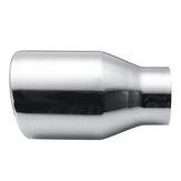 Embout de silencieux d'échappement de queue de tuyau arrière de voiture en acier inoxydable de chrome de 63mm-102mm
