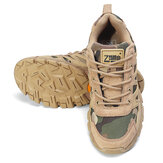 Mens Oxford Military Tactical Shoes Camuflagem Cordura Desert Combat Army Tênis para caminhada