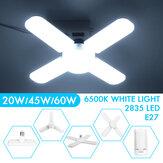 20W 45W 60W Deformable E27 LED Garage Light Bulb Ceiling Fixture Shop Workshop Lamp AC110-265V