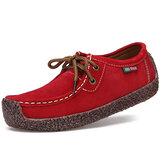Taille US 5-11 femmes en daim décontracté extérieur lacent chaussures confortables