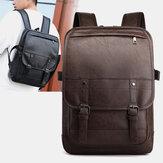 Vintage kunstleer anti-diefstal rugzak zakelijke tas voor mannen