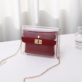 PVC 2 Pieces Clear Handbag Crossbody Bag