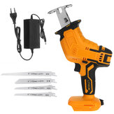 Cordless Electric Reciprocating Saw Rechargeable Handheld Wood Cutter W/ 4PCS Saw Blades Kit For Makita 18V Battery